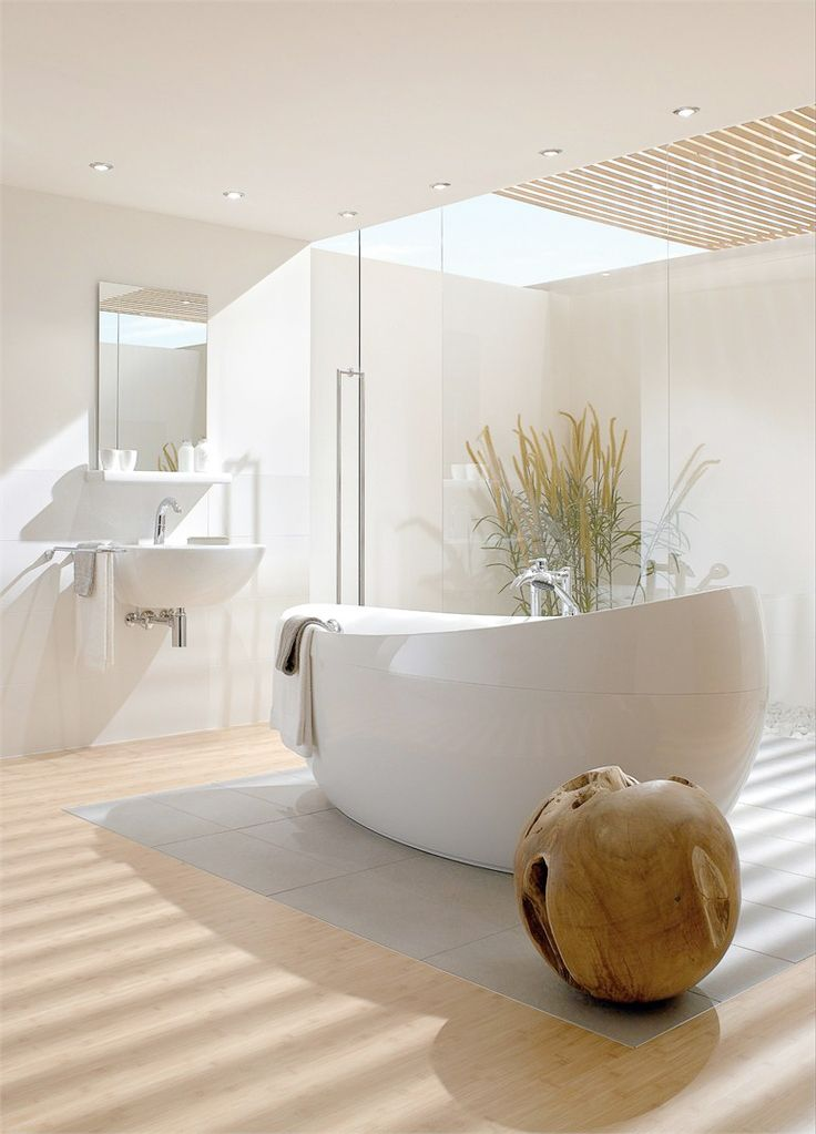 Simple yet elegant modern bathroom.