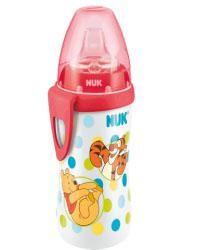 НУК Поильник для активных детей с насадкой для питья из силикона  — 451р.  NUK Дисней Поильник для активных детей Винни Пух, 300 мл, с насадкой для питья      Очень прочный, легкий и долговечный, изготовлен из полипропилена (не содержит бисфенол-А)  Не протекает, идеален для прогулок  Специальная силиконовая насадка для питья NUK Air System  Может использоваться со всеми аксессуарами для бутылочек NUK First Choice      Трудно поверить, как много нового узнали дети в первый год своей…