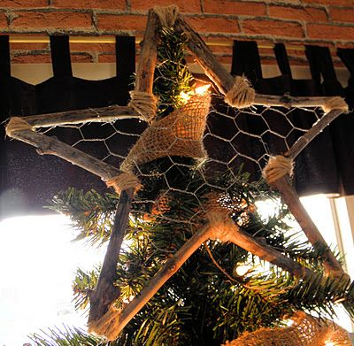 rustic christmas decorations to make | Rustic Tree Topper by Shabby Love . Love, love, love it!! She has ...