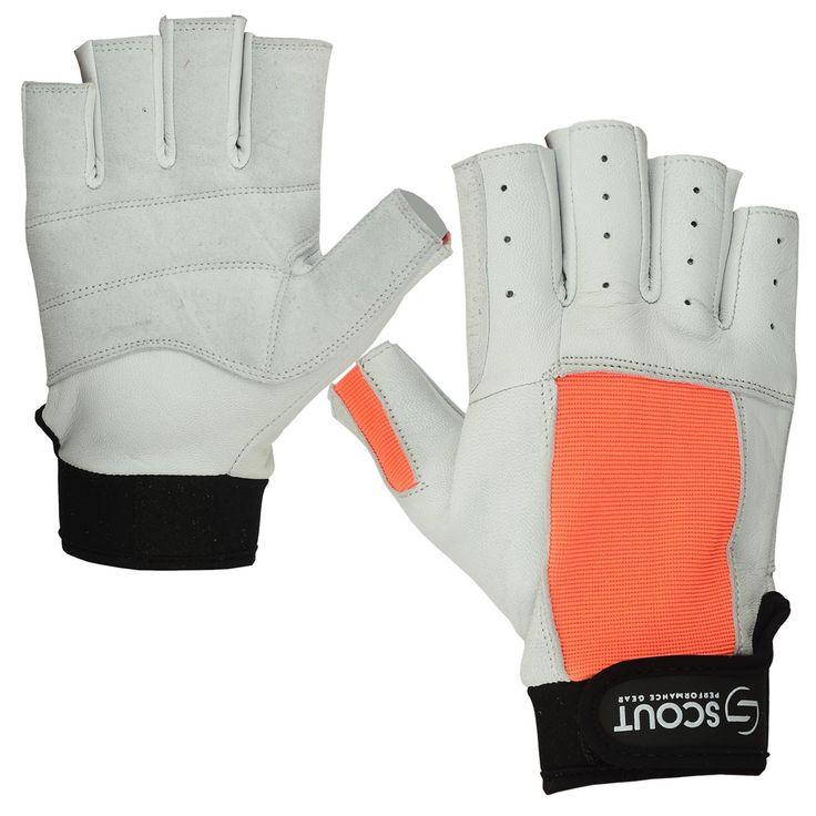 New Sailing Gloves Kayak Yachting WaterSki Sports Boating White Orange - Bulk Only
