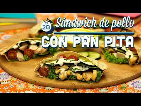 ¿Cómo preparar Sándwich de Pollo con Pan Pita? - Cocina Fresca - YouTube