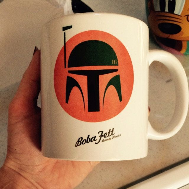 Buyer photo Andrea Tepper, who reviewed this item with the Etsy app for iPhone. #mug #mugs #printmug #bobafett #starwars #theforceawakens #coolmug