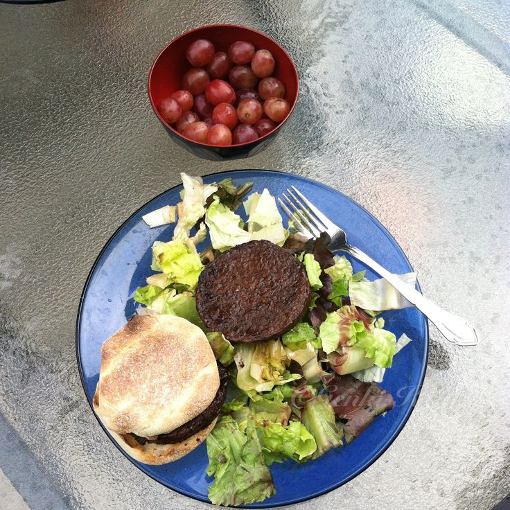 Vegan Lightlife Smart burger lunch meal