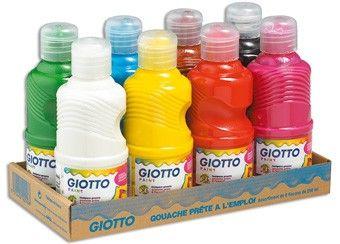 Set mit 8 Flaschen Gouachefarben Giotto & Giotto be-bé | Kindershop Das Kleine Zebra