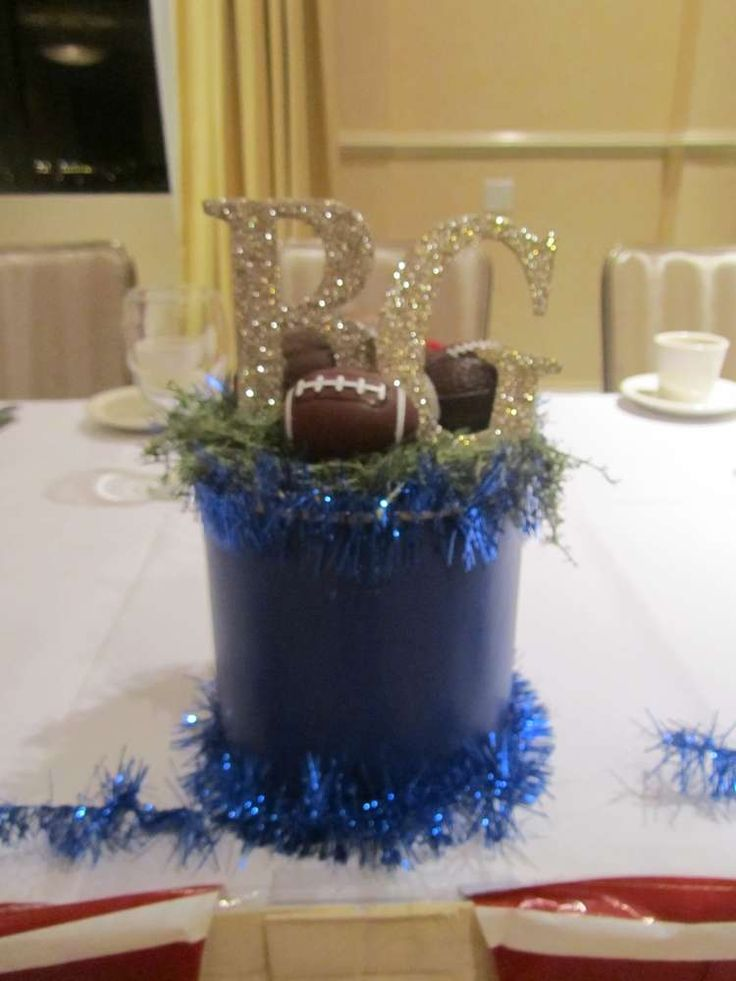 Best diy football centerpiece kits images on pinterest