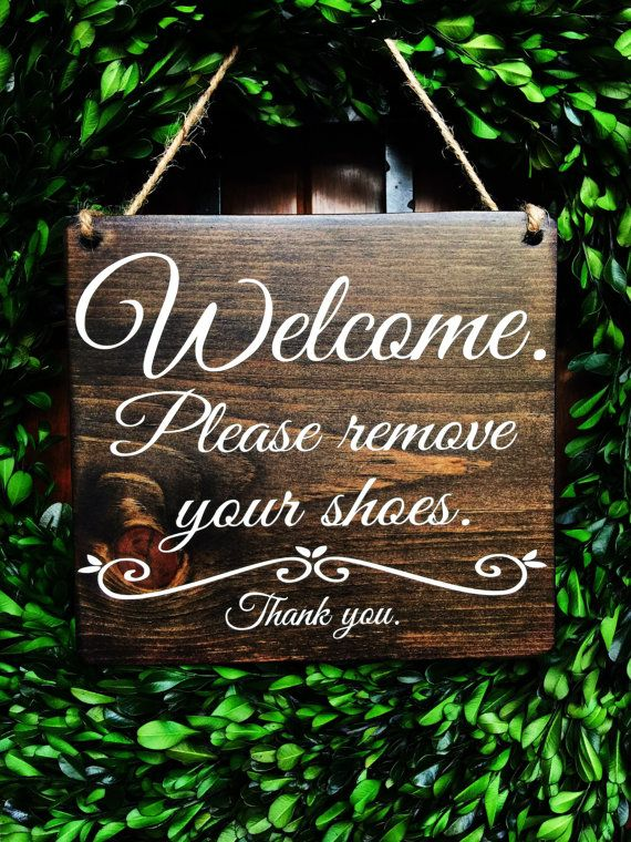 Please Remove Shoes Sign No Shoes Sign by TheWoodGrainHome Welcome sign   Door Signs   no shoes