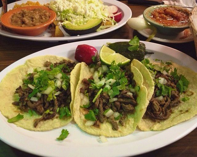 Beef tacos in corn tortilla!, one of my favourites.. #Mexicanfood