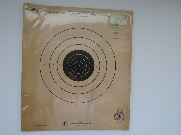 Vintage NRA Pistol Targets - 12 Targets - Official NRA B-2 50 Foot Slow Fire Pistol Target - SEALED Original Package - Guy Gift - Crafting by shabbyshopgirls on Etsy