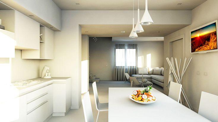 bram | openspace - vista su cucina verso salotto