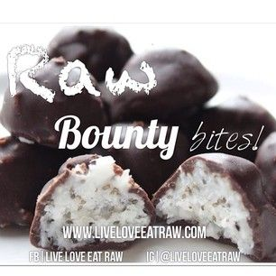 WOWZAAAAS RAW Bounty bites! Too Good Not To SHARE! ✔Vegan ✔Gluten Free ✔Dairy Free ✔Fructose Free ✔Refined Sugar Free What's In Them BO...