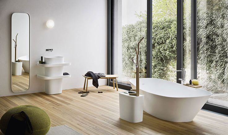 Monica Graffeo has designed Fonte, a project inspired by the Japanese philosophy of personal care, a collection of washbasins, showers and receptacles in Corian® and bathtubs in Korakril. Fonte gives a young and smart way to live bathroom, its elements are transformed to follow needs.