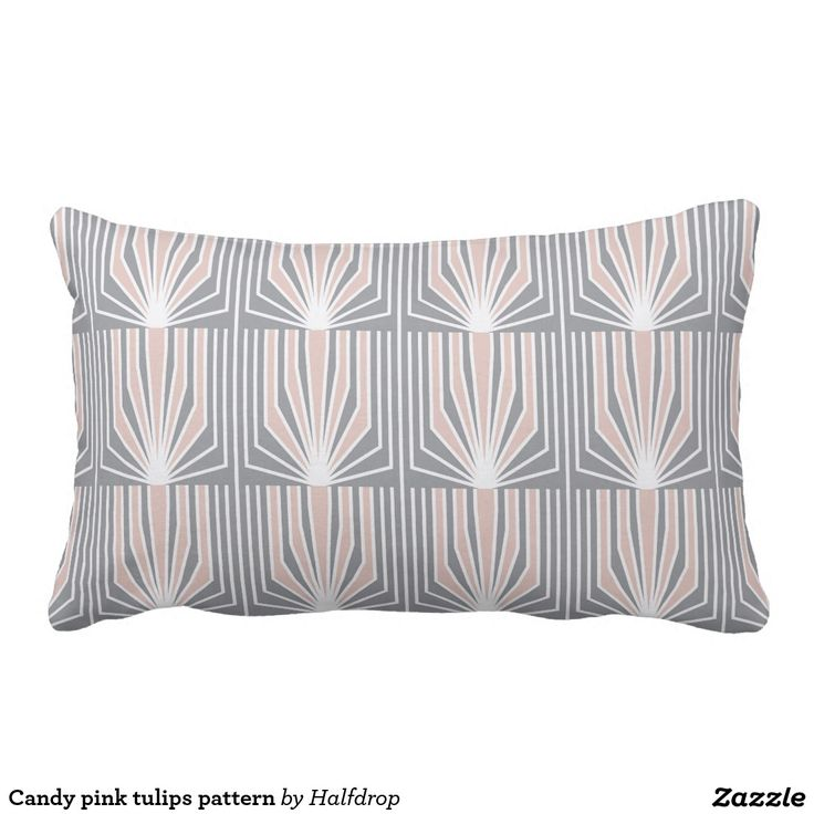 Candy pink tulips pattern throw pillow
