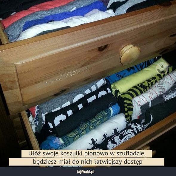 Porządek w szafce - pomysły, triki, sposoby, lifehacki, porady
