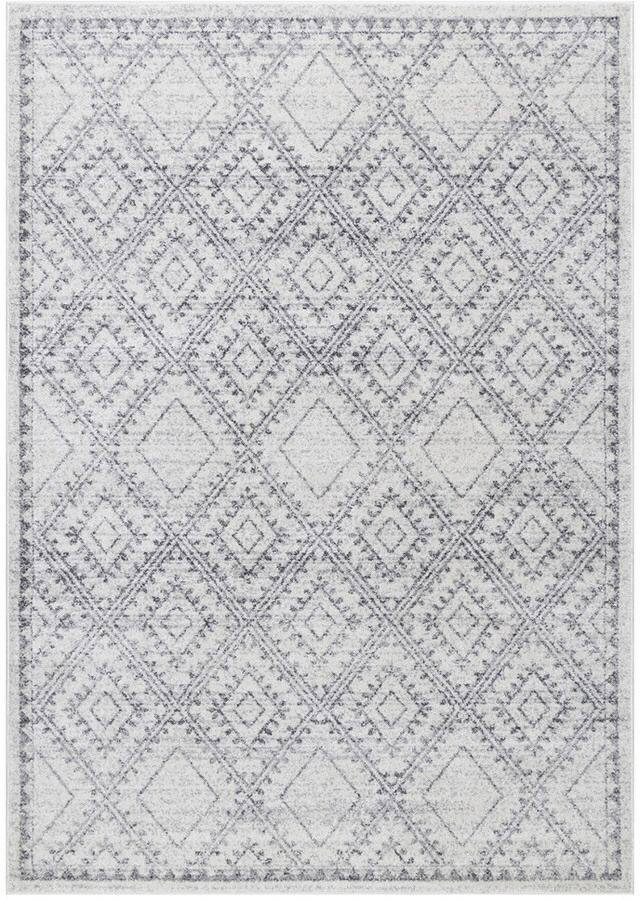 On Sale Love This Light Grey Diamond Patterned Rug This Would