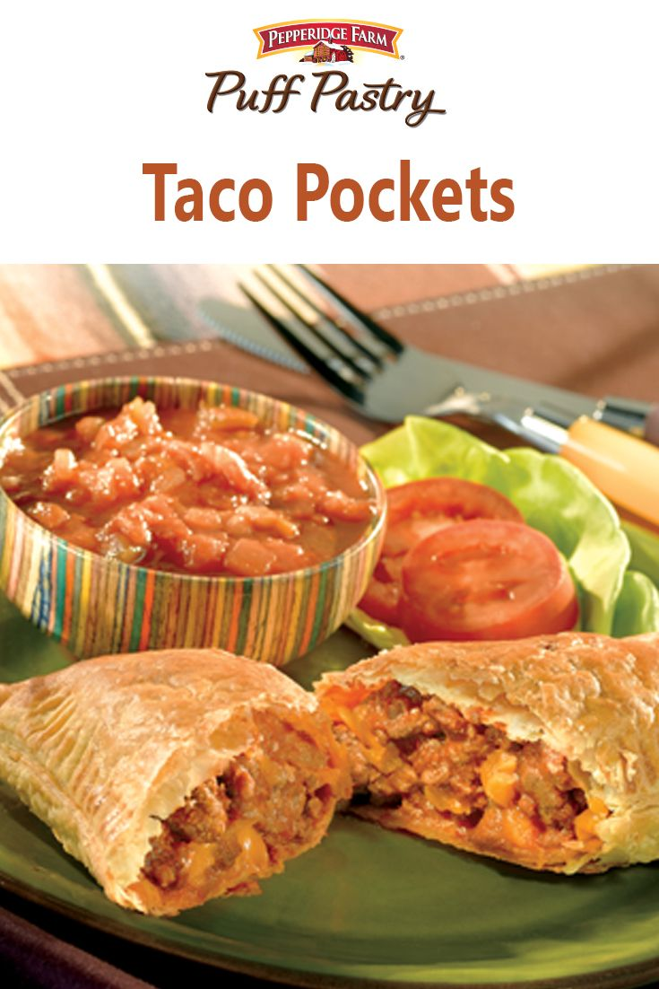 Puff Pastry Taco Pockets Recipe. You can prepare the filling then call the family to help assemble these taco-inspired pastries that you can eat at home or take on the go.  What fun!