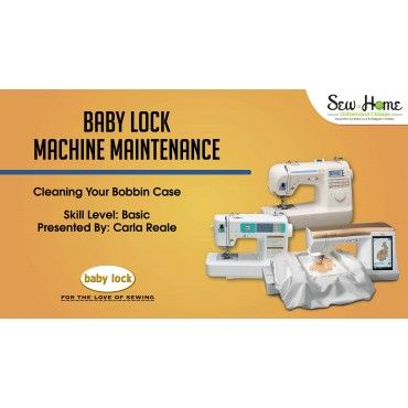 Clean your bobbin case on your Baby Lock Sewing machine with Carla Reale with this FREE online video! While you're there, check out the other videos Sew at Home On Demand Classes has to offer!