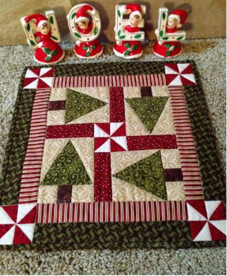 Holiday Trees Table Topper Pattern - Quilting Digest