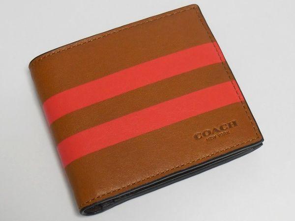 コーチ メンズ二つ折り財布75150茶色