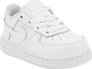 Nike White Air Force 1 Unisex Toddler Toddlers can now own a piece of trainer history as the Air Force 1 arrives in tiny sizes. The original Air unit basketball shoe is dressed in white leather with overlaid Swoosh branding and perforated http://www.comparestoreprices.co.uk/january-2017-8/nike-white-air-force-1-unisex-toddler.asp
