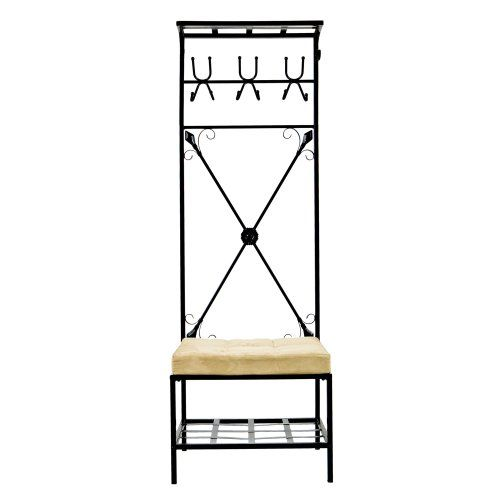 SEI Black Metal Entryway Storage Bench with Coat Rack Southern Enterprises, Inc. http://www.amazon.com/dp/B001QOGLDE/ref=cm_sw_r_pi_dp_KWcYub1SMYNV6