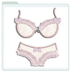Bra and Panty Applique