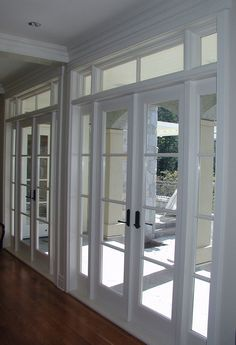 one french door with sidelights and transoms - Google Search