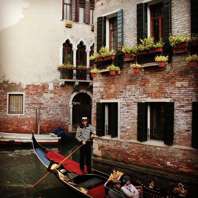 A #venetian must: a #gondola ride through #Venice's canals. One of the best ways to #explore the city