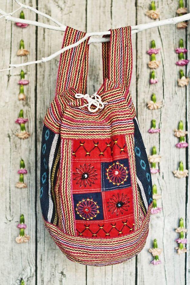 Hand made backpack / Unikatowe, kolorowe, ręcznie tkane plecaki z Indii w modnym stylu BOHO.  Idealne na zakupy, rower, do szkoły, na plażę i wycieczki. Modny dodatek, który ożywi każdą stylizację.  Moda na boho i...