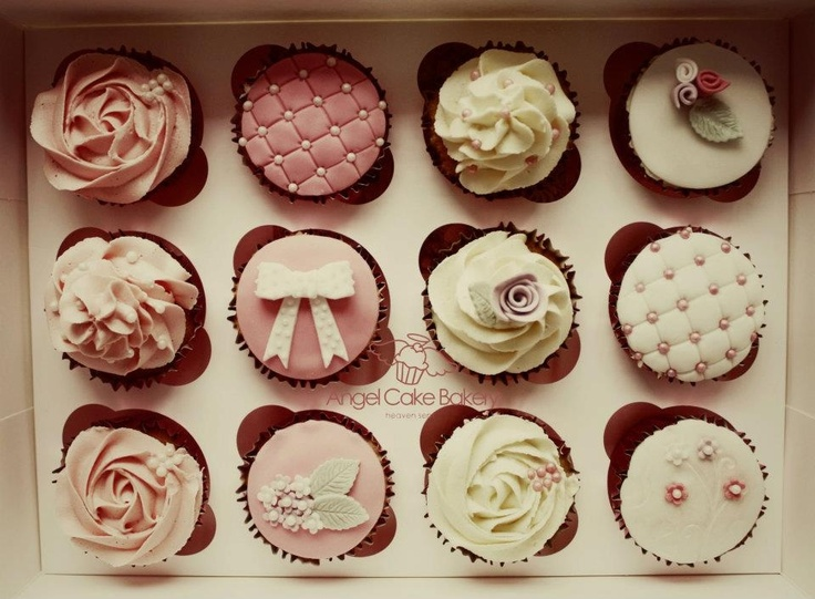 Bridal cupcakes bridal shower pinterest receptions for Wedding shower cupcakes