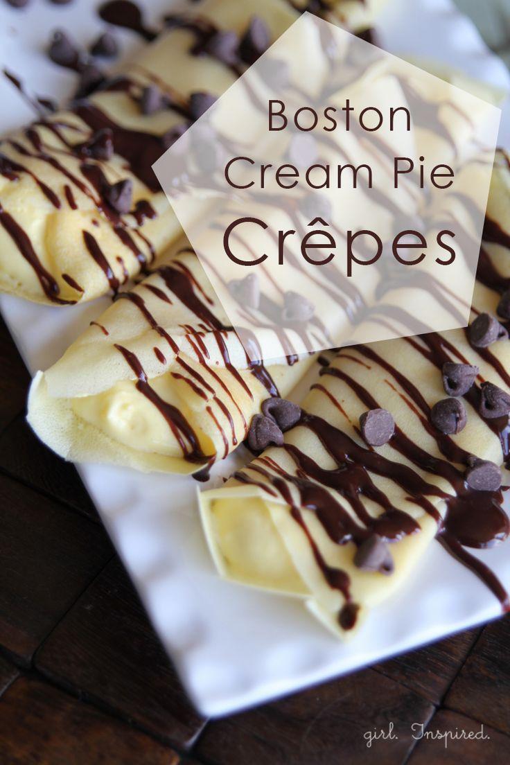 Boston Cream Pie Dessert Crepes - girl. Inspired.