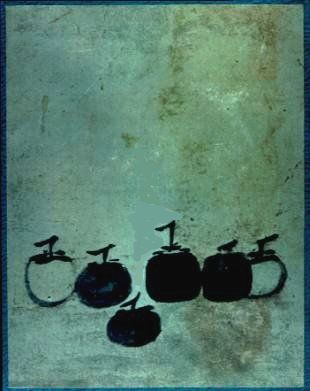 Six Persimmons by Mu Qi.  Love this painting, wish I could find a print!