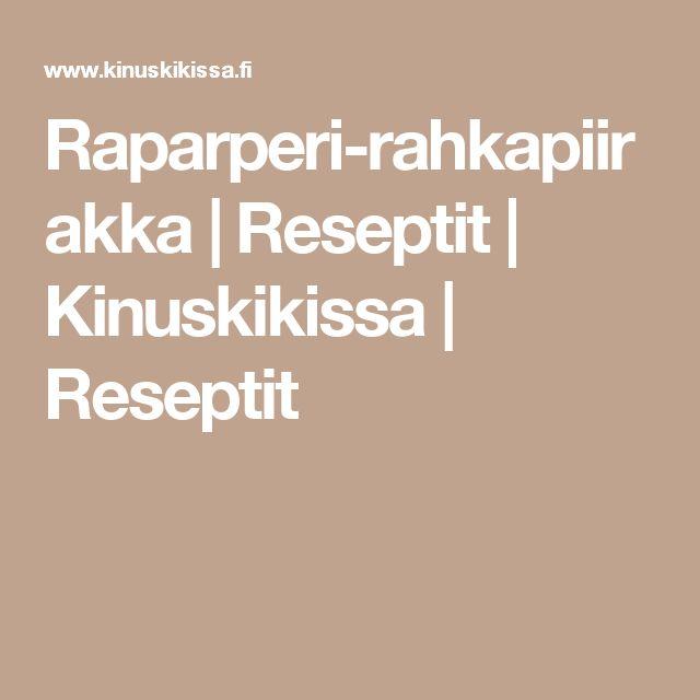 Raparperi-rahkapiirakka | Reseptit | Kinuskikissa | Reseptit