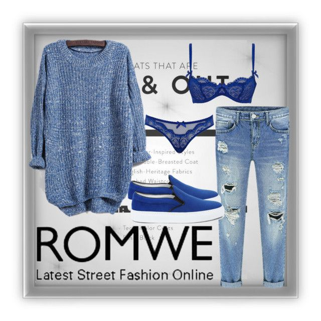 """""""ROMWE"""" by milura-style ❤ liked on Polyvore featuring L'Agent By Agent Provocateur and Amb Ambassadors of minimalism"""