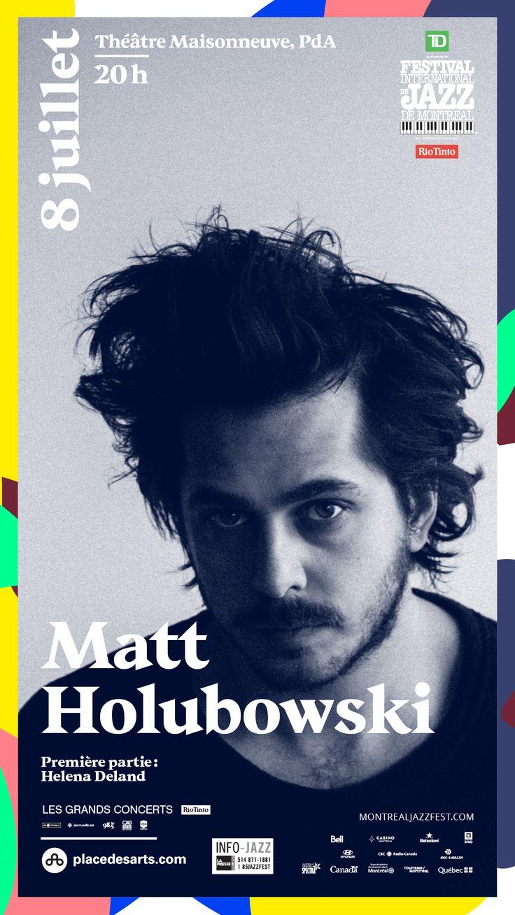 MATT HOLUBOWSKI au Théâtre Maisonneuve de la Place des Arts le 8 juillet 2017. Paru à l'automne 2016, Solitudes, le deuxième album de Matt Holubowski, remporte rapidement un énorme succès critique et populaire.  Sur scène, les chansons directement inspirées de ses riches expériences de voyage prennent tout leur sens, portées par le charisme de l'artiste. Entouré de 4 musiciens d'exception, Matt nous présente un spectacle à son image : vrai, délicat et introspectif.