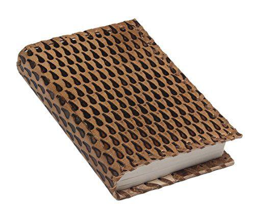 Cadeaux de noel, cuir marron fait main Journal blanc Journal personnel composition carnet de voyage Livre de carnet carnet de croquis 12 x…