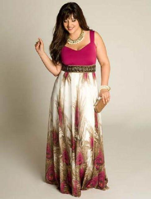 Moda Estilo Y Distinción Para Gorditas: Vestidos de noche para gorditas 2012