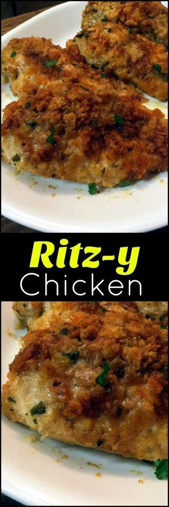 This Ritz-y Chicken is beyond moist and flavorful!  You wont believe how easy it is!