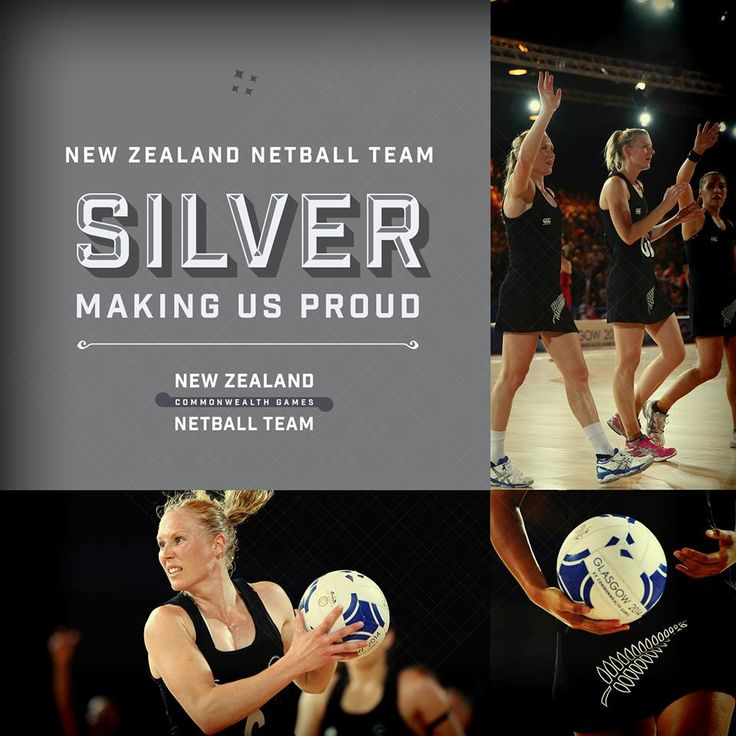 Silver for New Zealand in the Netball. It might not be the result they wanted but they showed heart to get silver! Let's show them that we are still proud of them and the entire Commonwealth Games team - Forever supporting New Zealand!   #makingusproud #glasgow2014 #NZ2014  (c) Getty Images