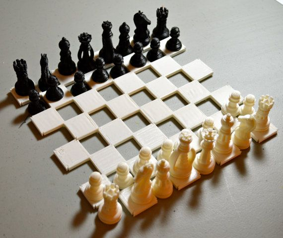 Wonderful CHESS ♜ 3D Printed Chess Set And Board