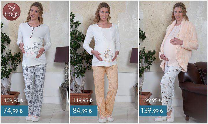 Minik detayları sayesinde, hamilelik öncesi ve sonrası rahatlıkla kullanabileceğiniz pijamalar! Online mağaza için >> http://goo.gl/d9zgzL