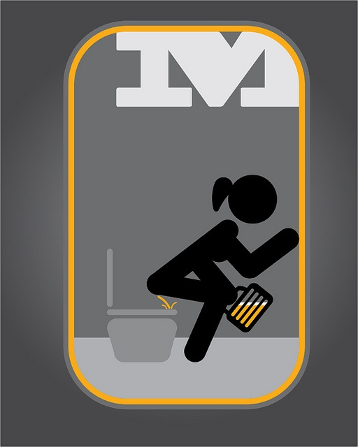 Señaletica para baño de mujeres, via Flickr.