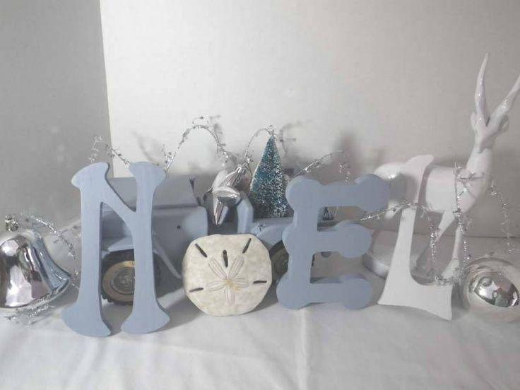 Coastal Christmas Decor ~ Beach Themed Holiday ~ Blue White Silver Holiday by CBEUsedBlues on Etsy