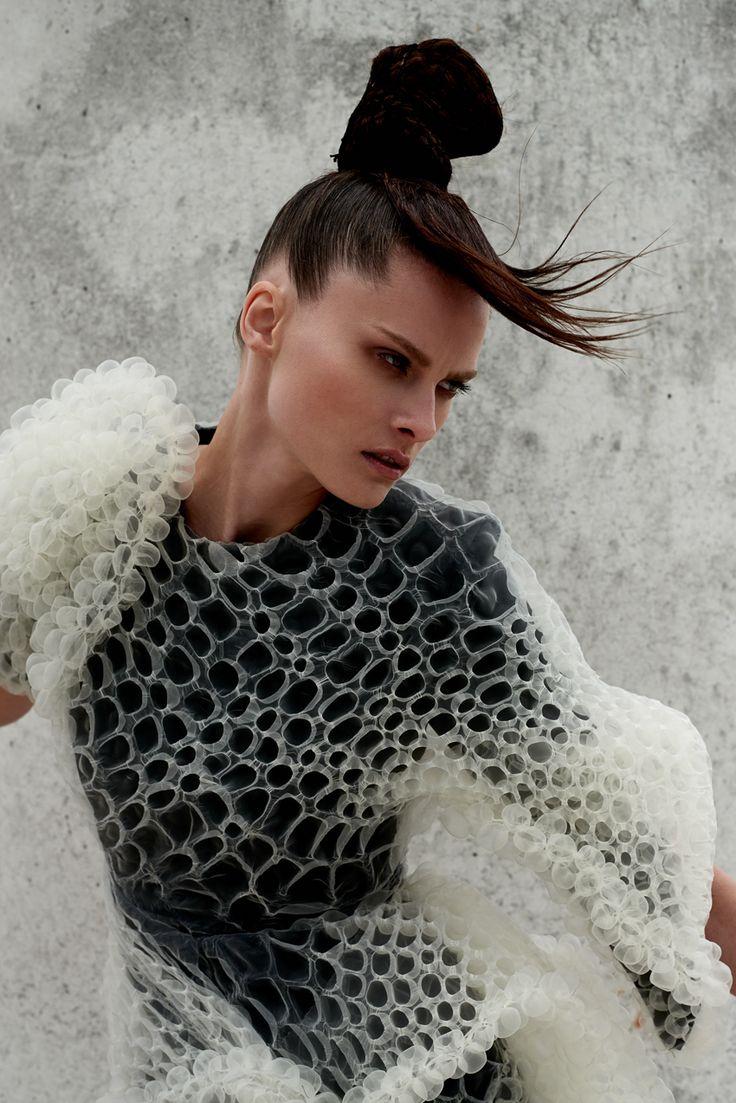 Photography: DeMarcus Allen Styled by: Simon Gensowski Hair: Olivier Henry Makeup: Piia Hiltunen Model:Elena Melnik