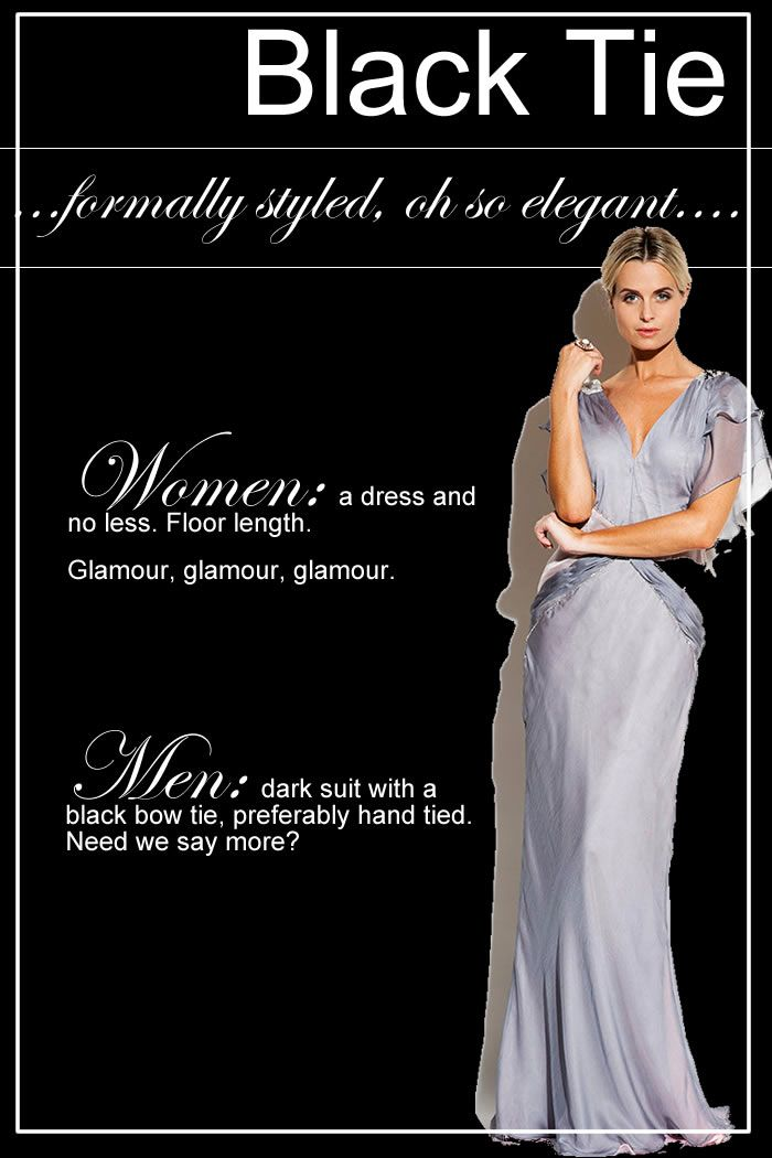 Dress Codes Defined From White Tie To Smart Casual Wedding