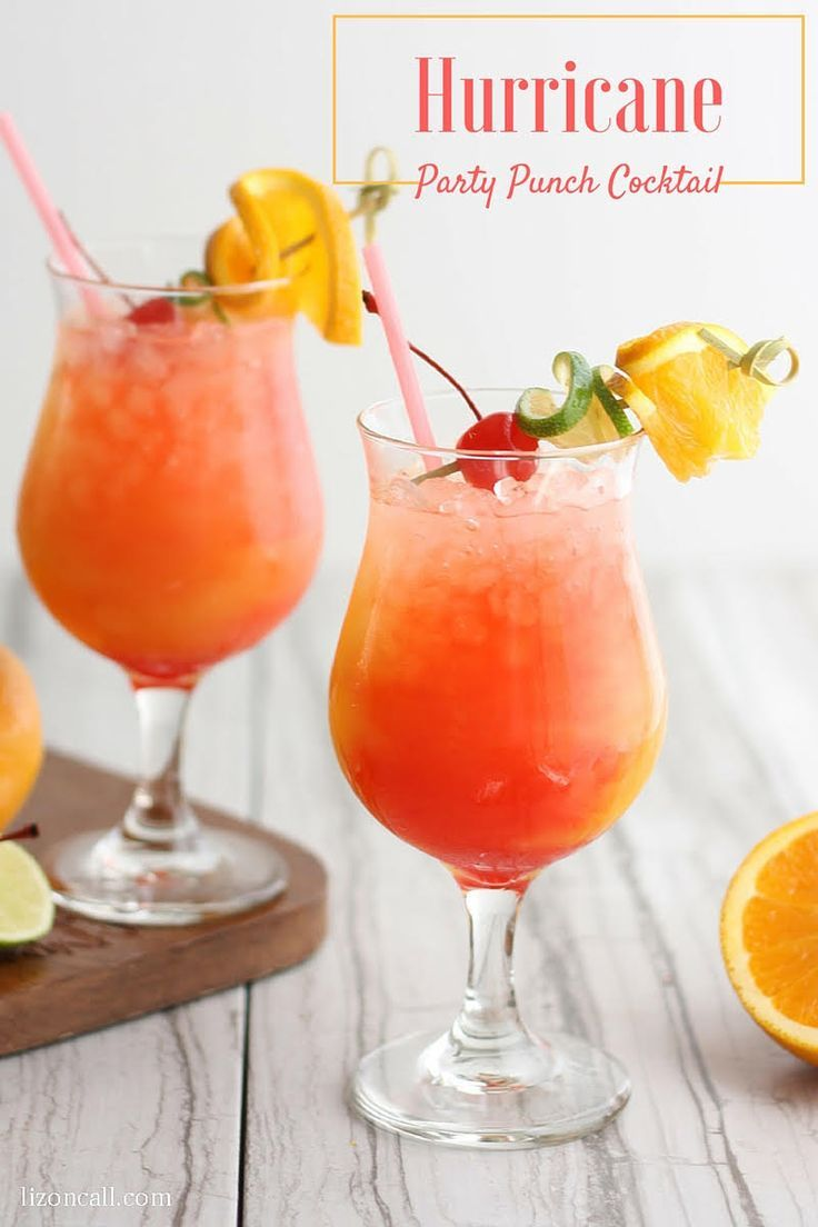 Add a splash of the tropics to your next get together with this Hurricane Party Punch Recipe!
