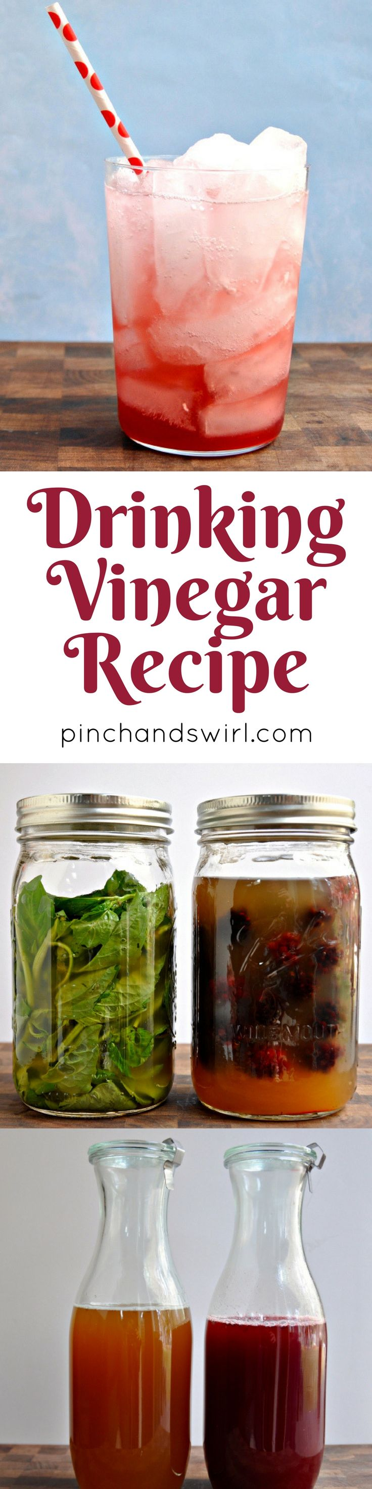 If you're looking for a drinking vinegar recipe, you've found it! Two versions: Thai Basil Drinking Vinegar and Marion Berry Drinking Vinegar.