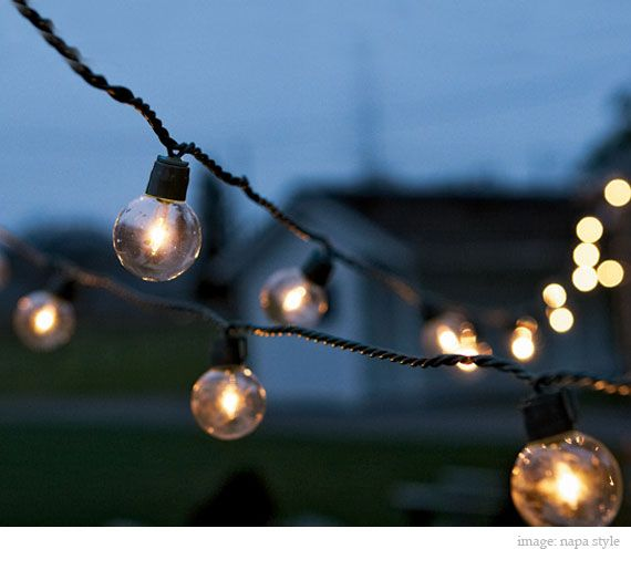 There is just something about string lights outside that makes my soul take a deep breath. I want to have them in our backyard someday.