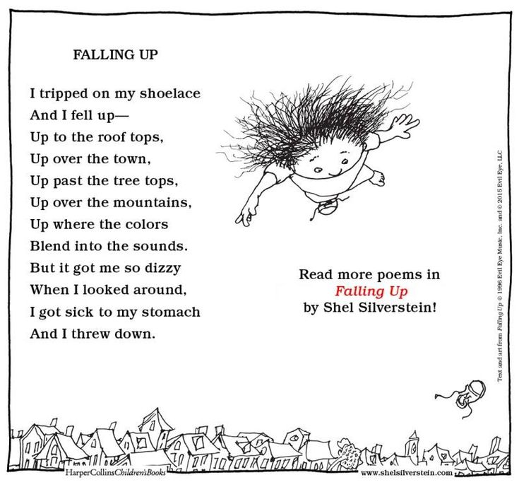 Shel Silverstein Falling Up With Images Silverstein