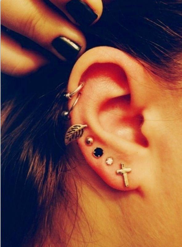 Up the ear piercings