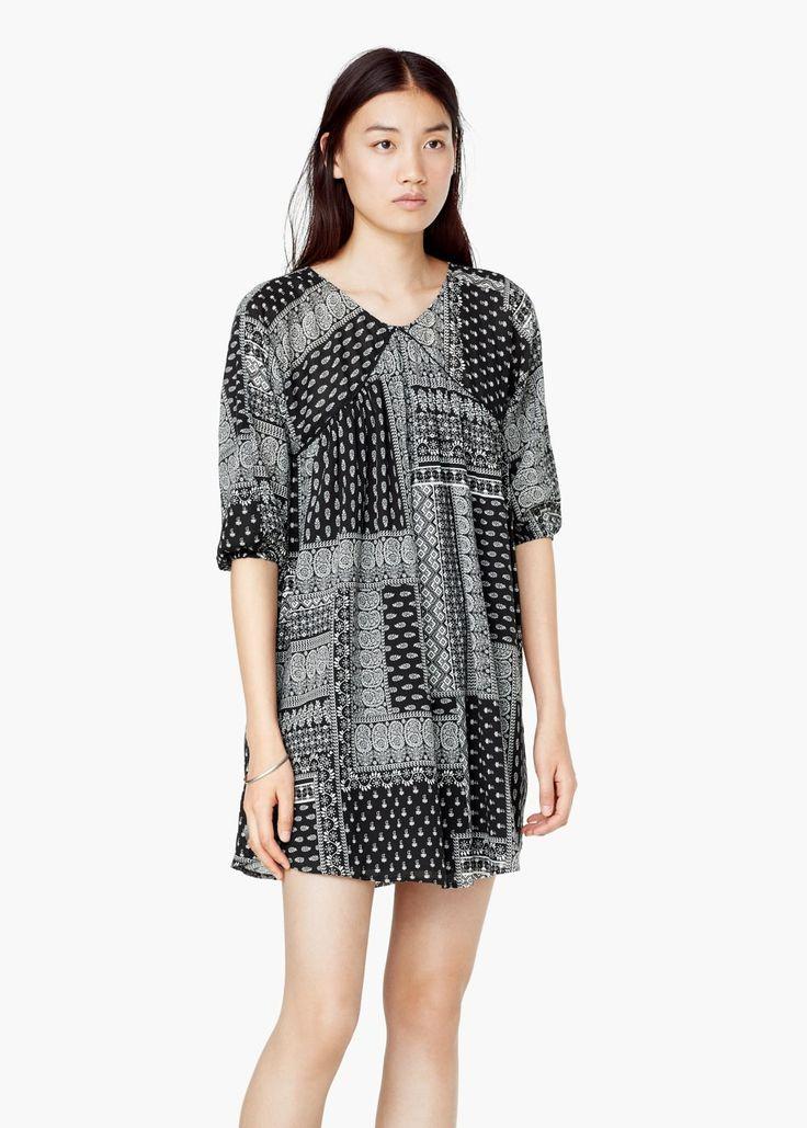 Robe combinée coton - Robes pour Femme | MANGO France